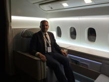 La Première Suite - Myself on the new seat (lounging position)