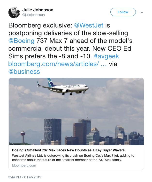 Westjet to orders 65 737MAX - Page 4 - FlyerTalk Forums on