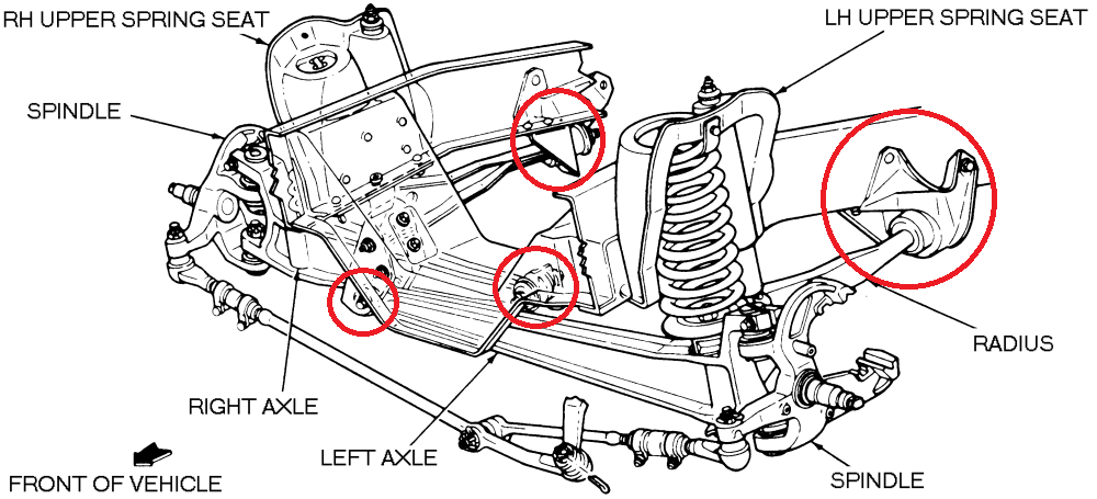 ford f100 front suspension diagram