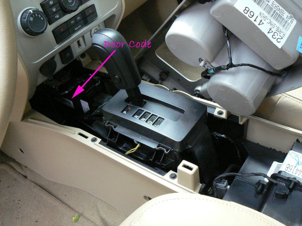 The 2012 is under the console on the label on the lower left side remove the trim and pull the console