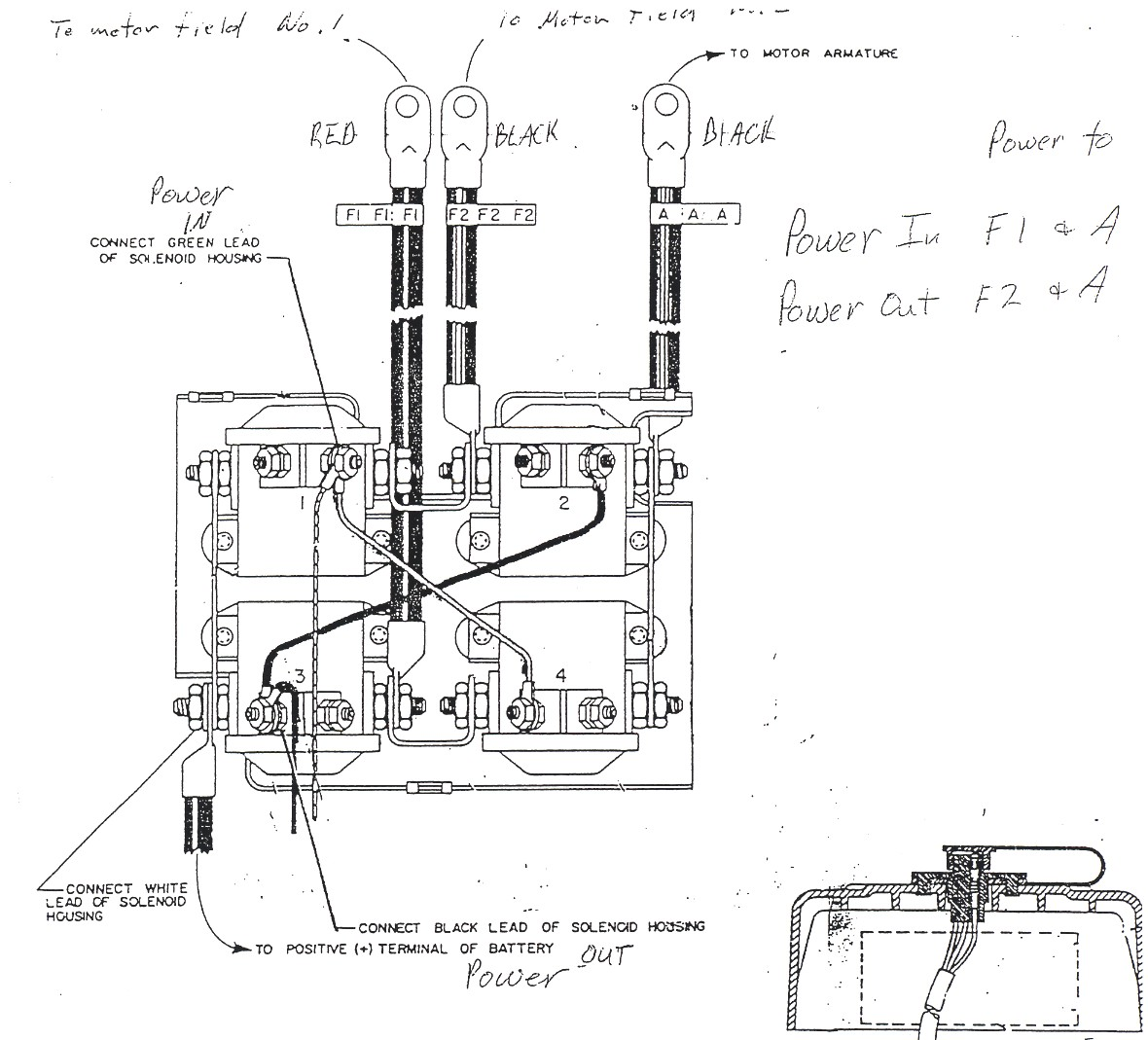need help wiring winch if someone could look over my diagram please Ramsey Winch Solenoid Diagram