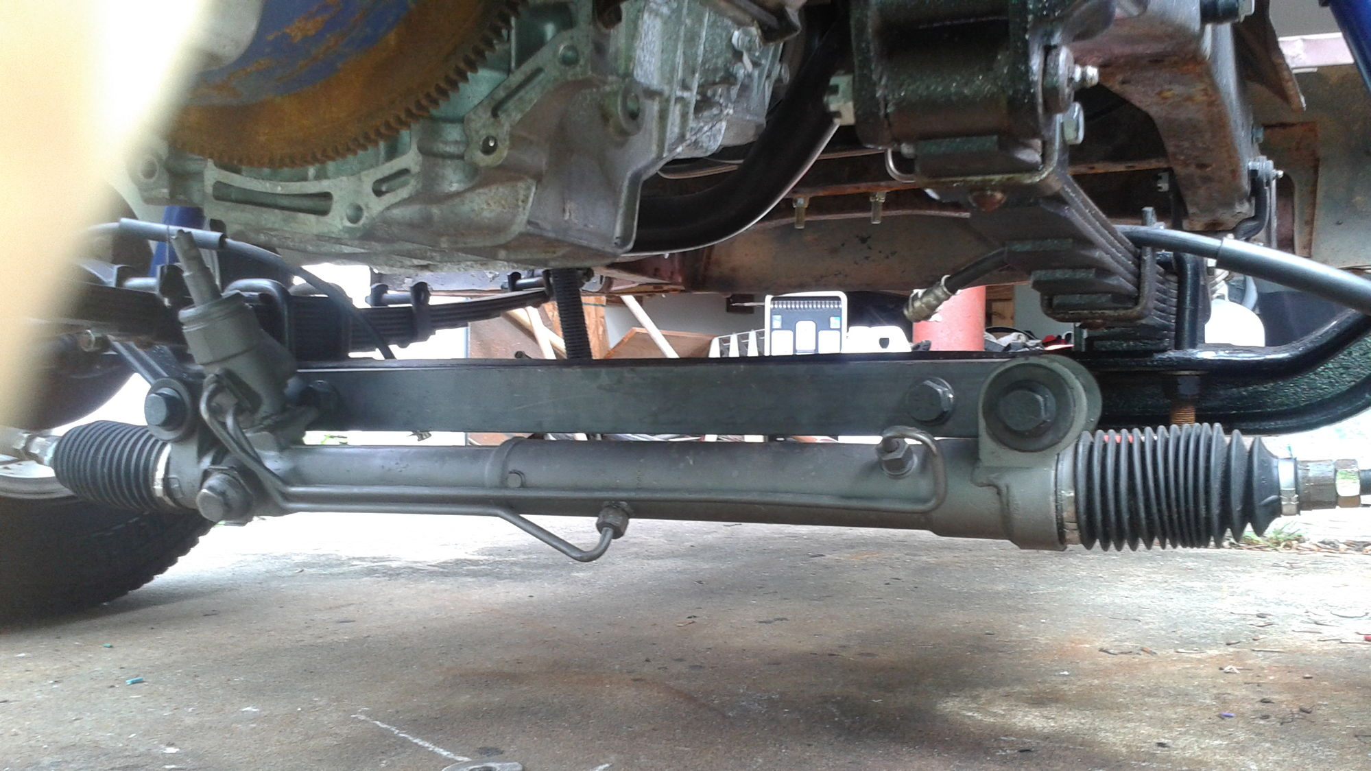 1372038 Rack And Pinion Mounted To Axle This Should Work Gonna Try on toyota 3 4 starter location