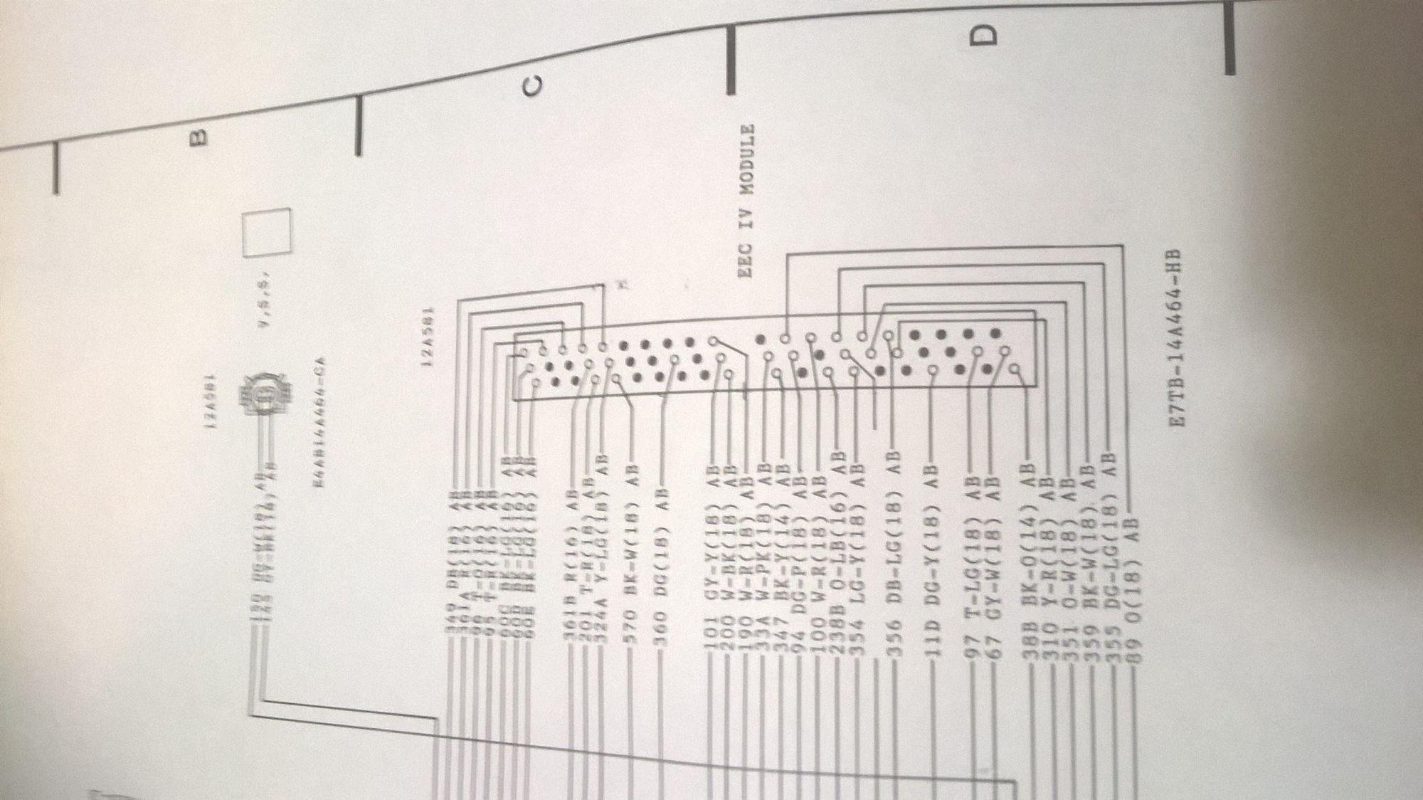 Eec Iv Diagram - Illustration Of Wiring Diagram •