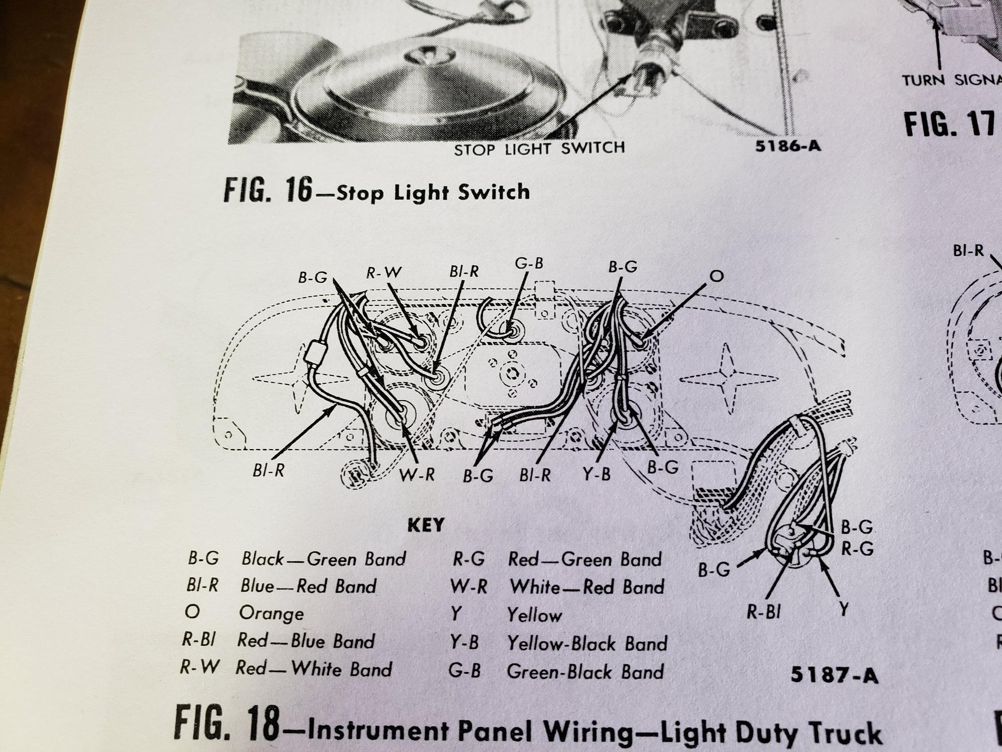 U201860 F100 Wiring Color Key