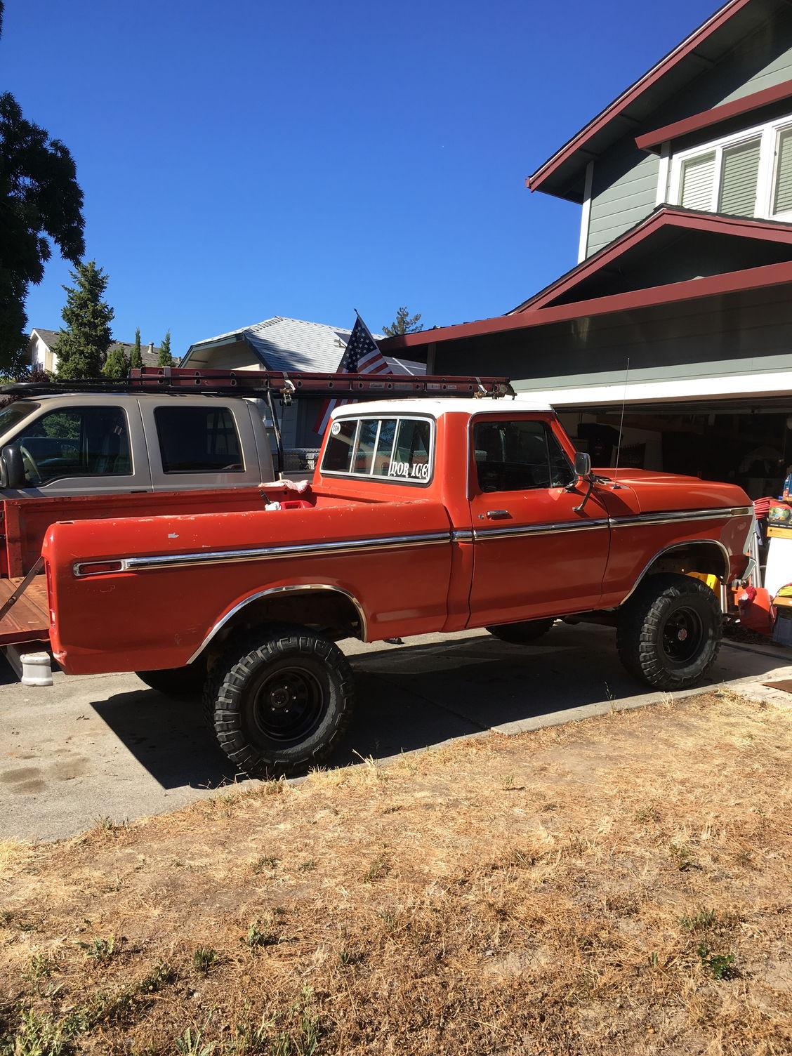1975 F100 4x4 Short Bed  Sonoma County Ca