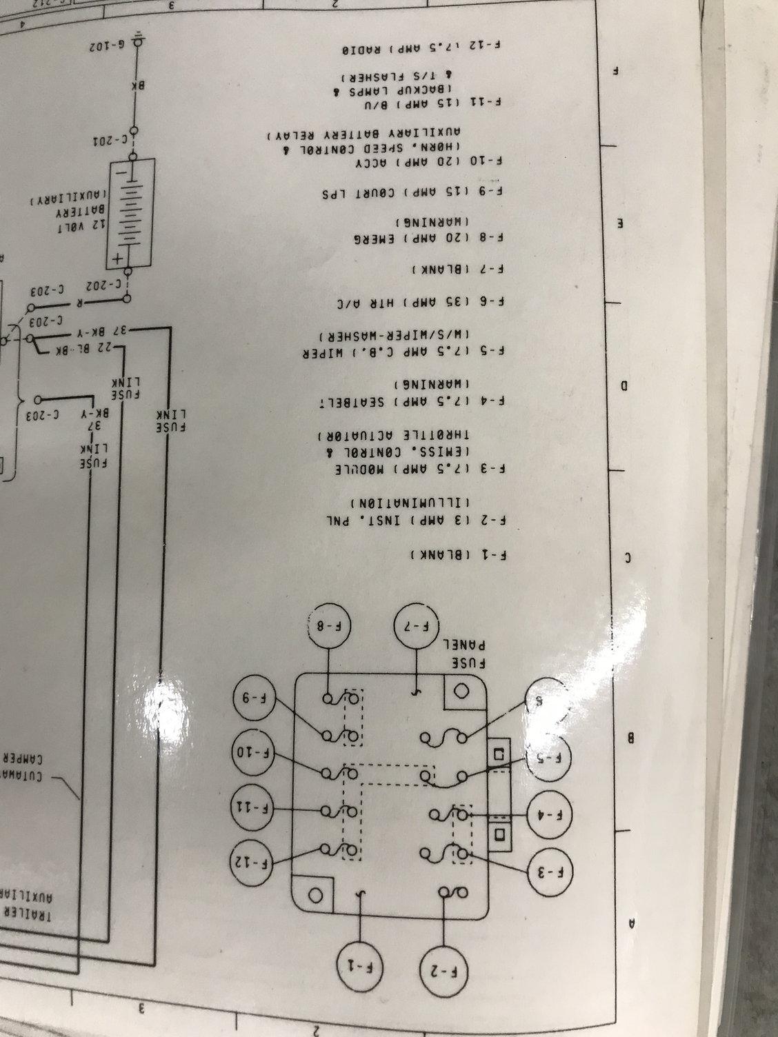 78 E250 Fuse Diagram