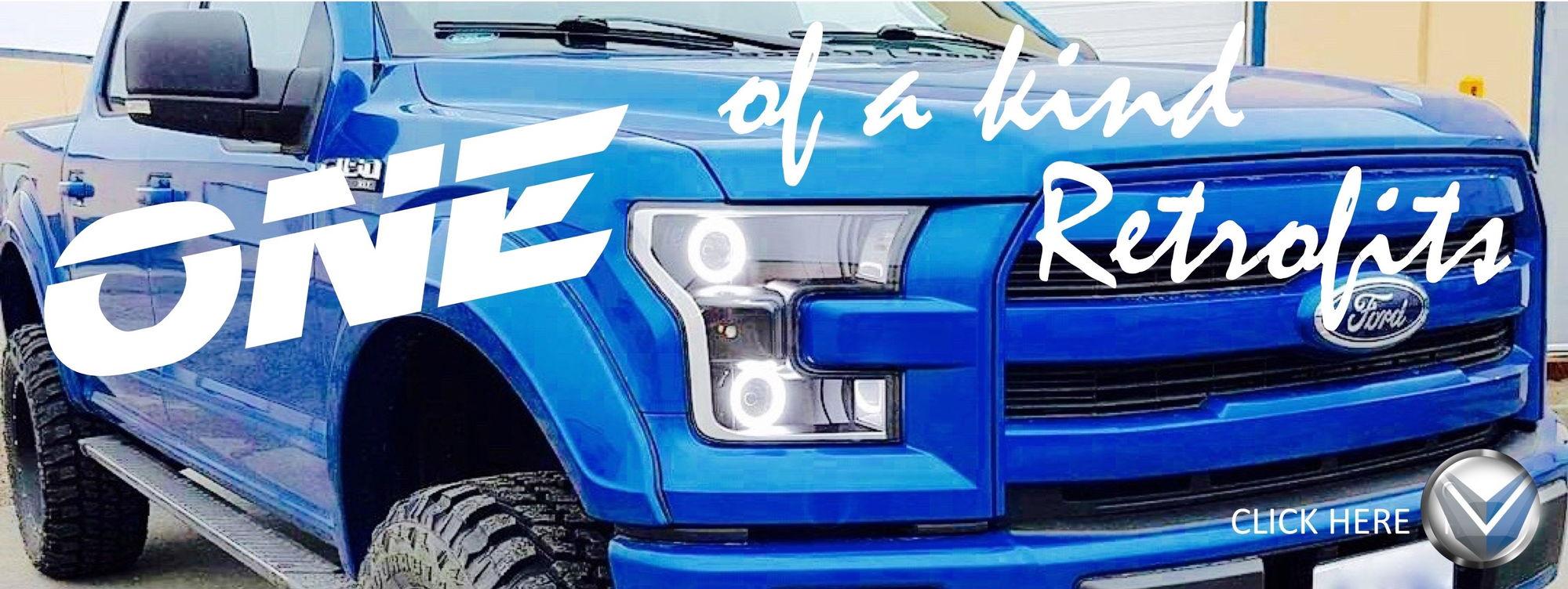 2015 ford f150 custom retrofitted headlights