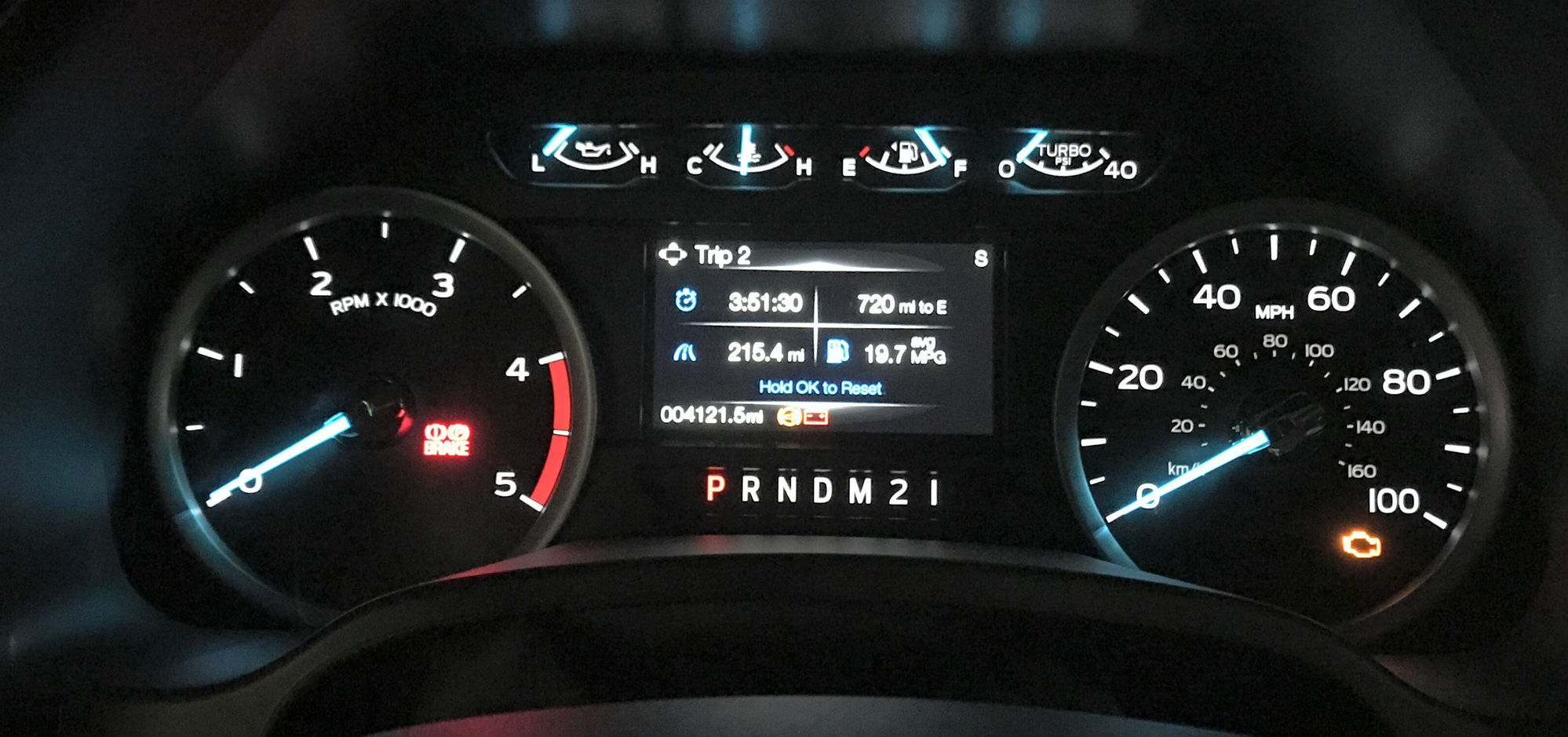 Here s a shot of the trip meter that i reset at the fuel stop the pics aren t the greatest but i think they re readable