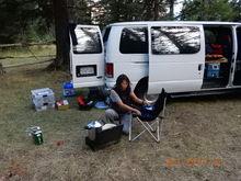 Relaxing in Salmon Meadows