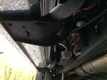 Compressor mounted on L-bracket.