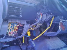 here i have had to change out the steering column. had to do some modifications to get it to fit. haven,t gotten it all back together yet. i may leave it for now in case i may have to do some repairs inside.