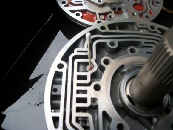 the installation of transgo's E40D-HD2-D reprogramming kit