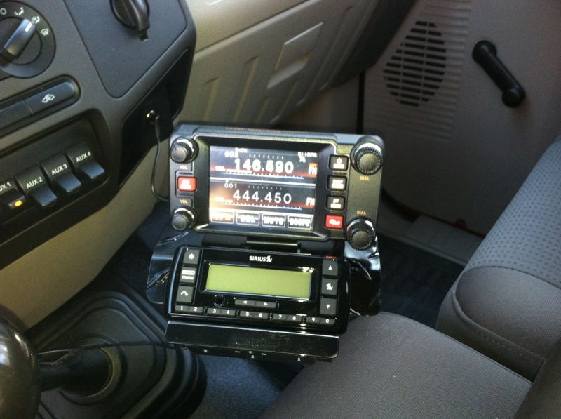 Looking For Pictures Of 2 Way Radio Install Ford Truck