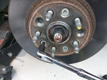 T50 Torx bolts on rotor