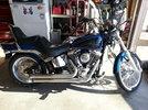 2008 FXSTC black n blue