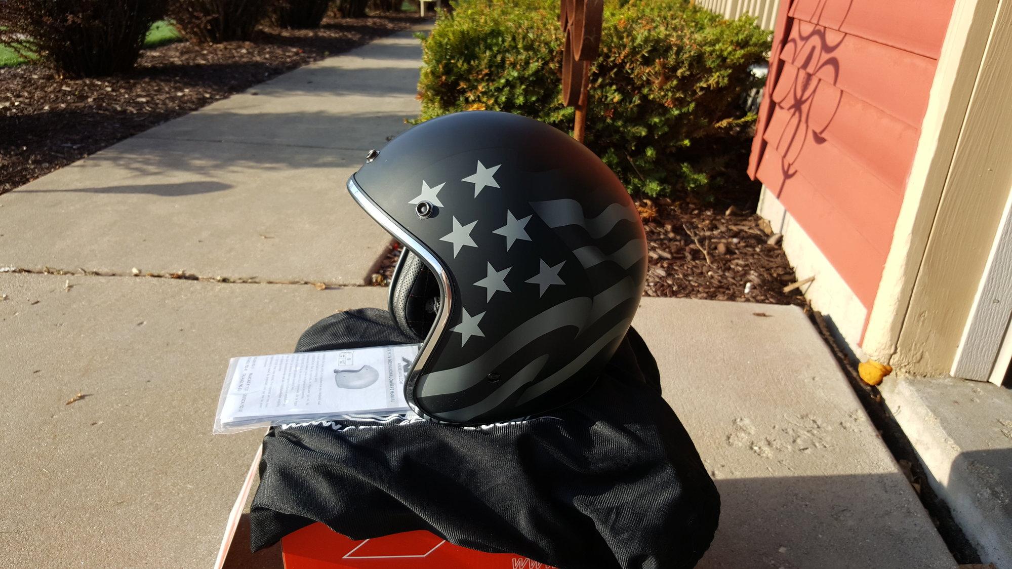 AFX FX-76 American Flag Stealth 3/4 Helmet (Sharp) - Harley Davidson