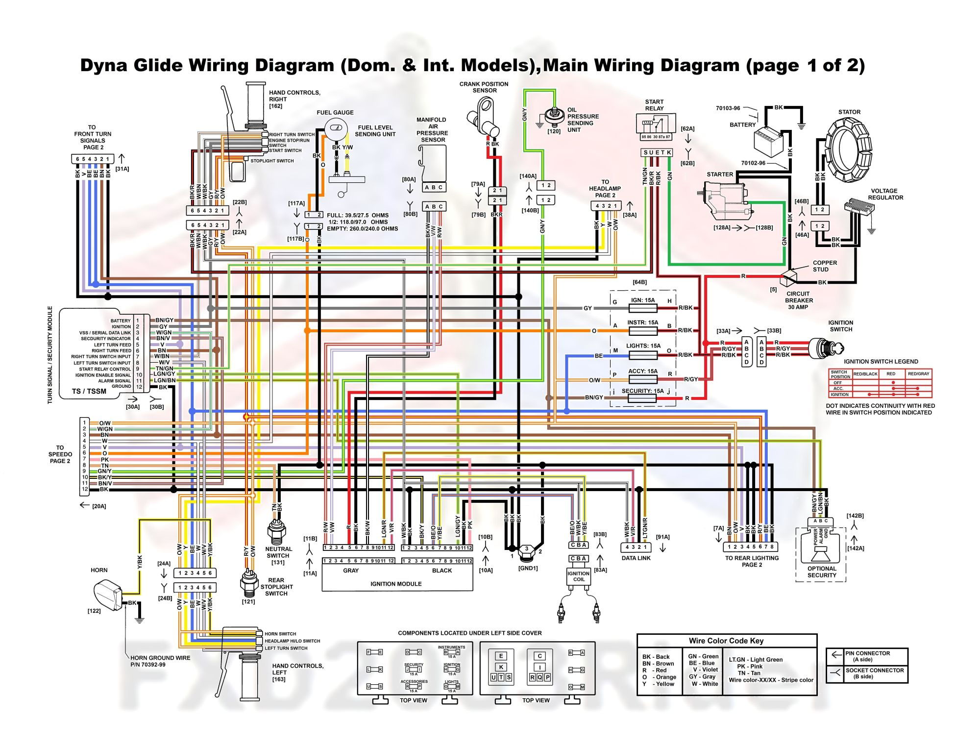 2001 Dyna Colored Lighting Wiring Diagram | Wiring Diagram Harley Wide Glide Wiring Diagram on