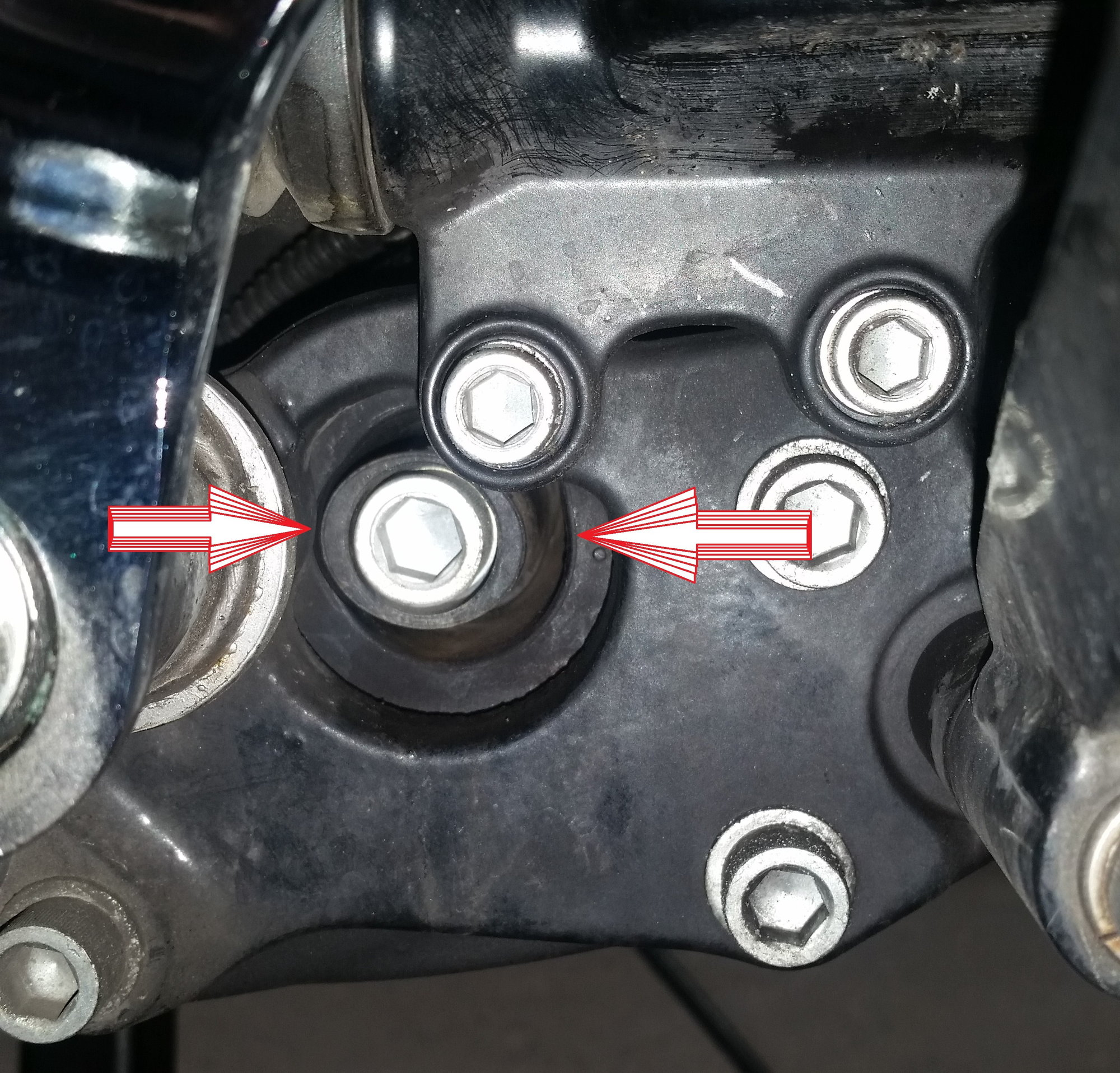 Front motor mount alignment - Harley Davidson Forums