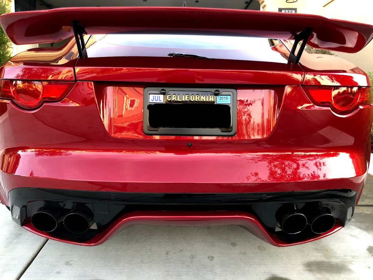 Lease Ending - '16 F-TypeR Part Out - Exhaust, Piecha GT Rear Wing, Mina Hood Louvers