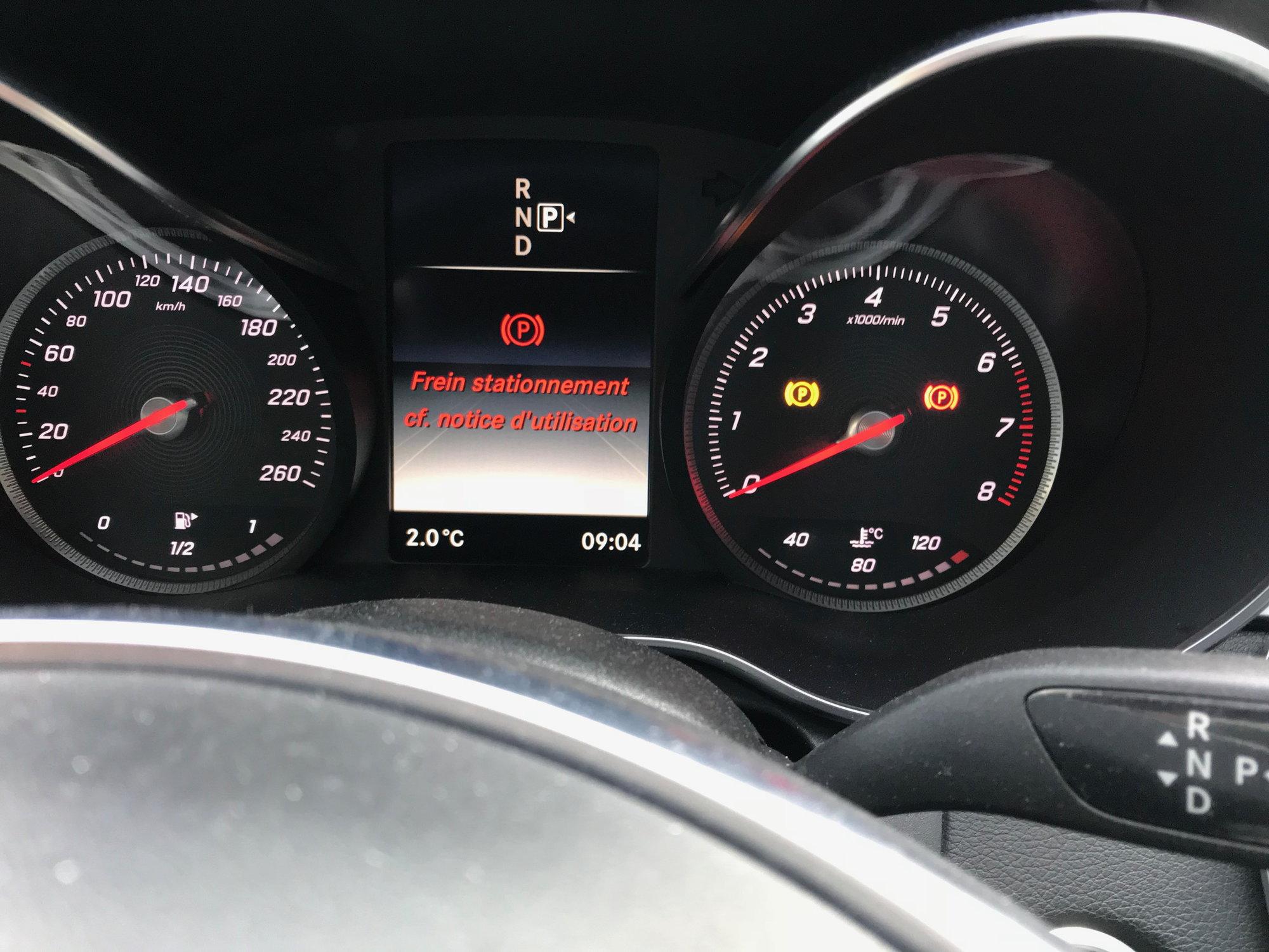 Parking Brake warning - MBWorld org Forums