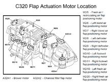 C320 HVAC actuator locations
