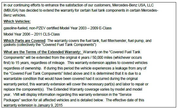 W211 Recalls! - Page 13 - MBWorld org Forums