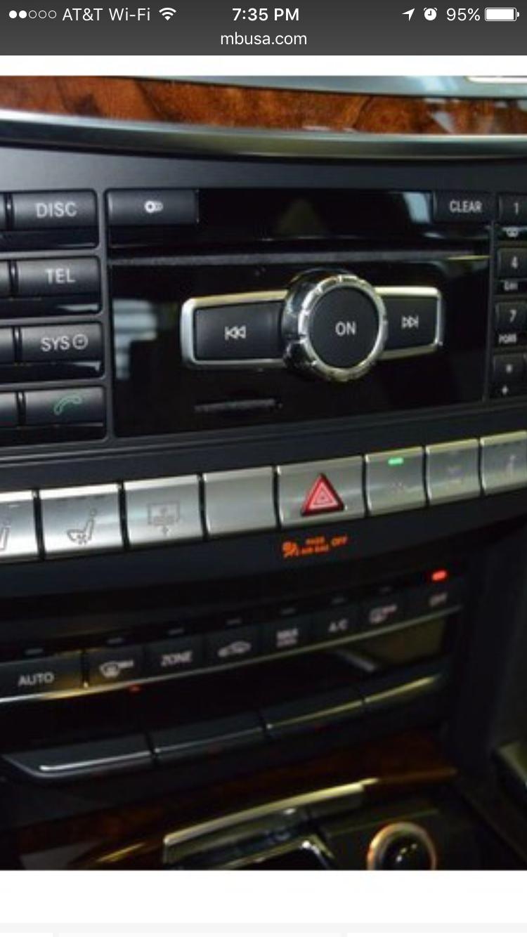 Headrest lowering button on dash of E350/E550 - MBWorld org