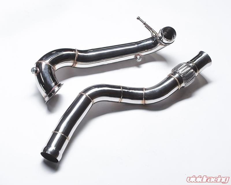 Agency Power Highflow Catless Two Piece Downpipe Mercedes