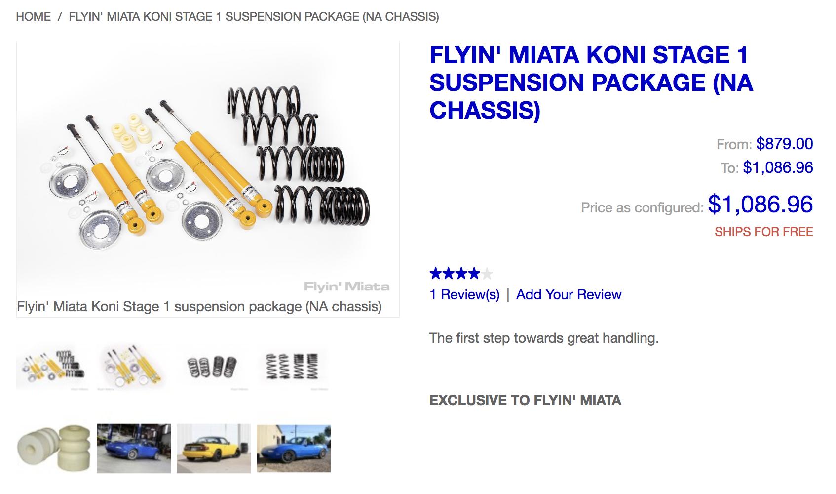 For Sale Koni yellow sports with flyin miata springs - Miata