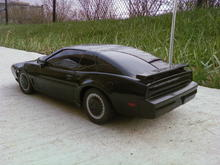 rear shot of my r/c kitt knightrider trans am