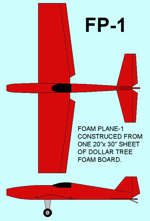 Designing my first Dollar Tree Foam Board plane FB-1 - RCU