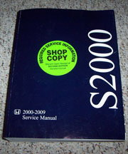 2009 honda s2000 owners manual