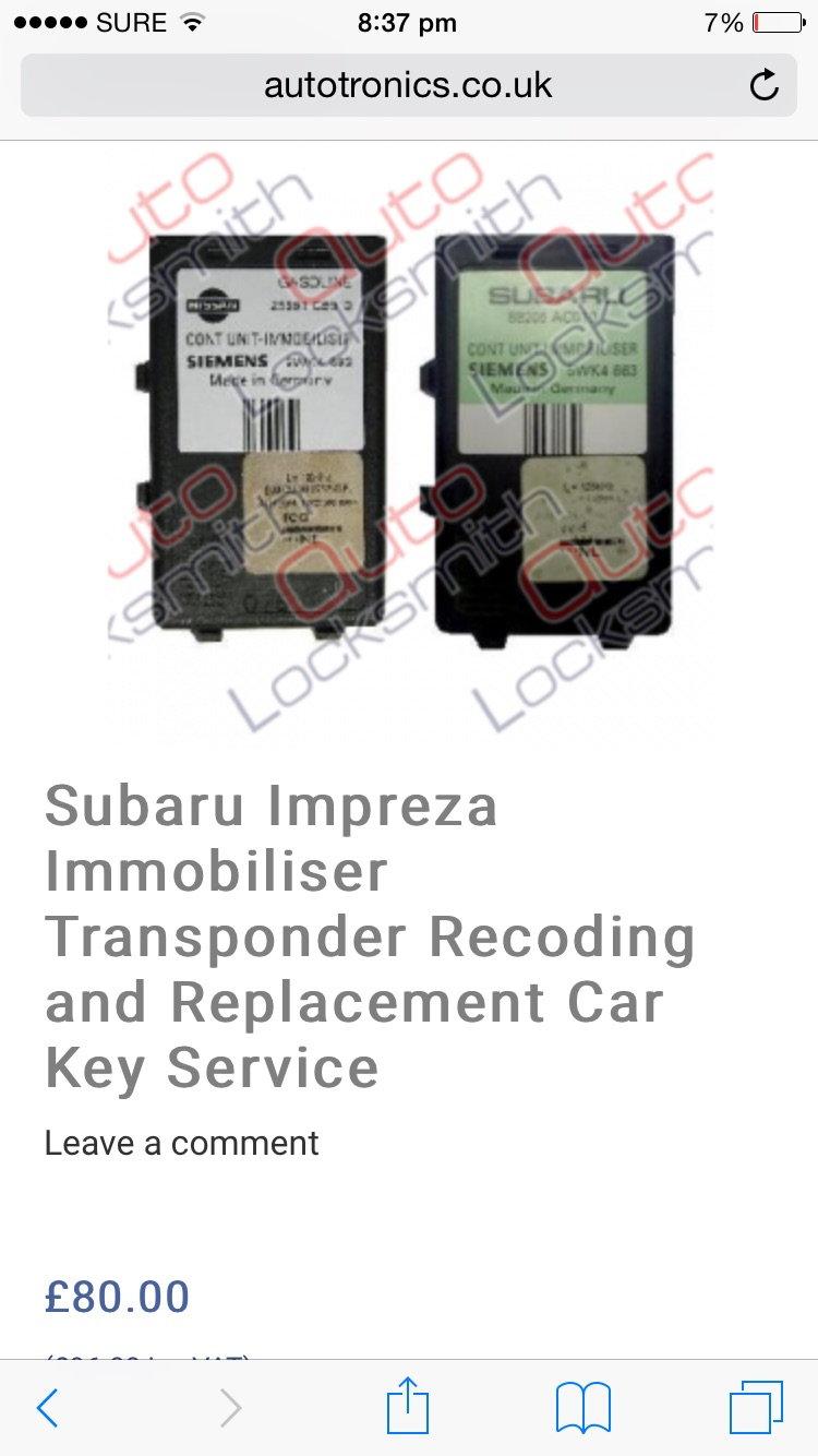 Subaru Ecu List