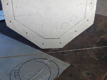 This is the intended cut out and bolt pattern for the transom side