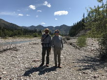 My guide Nick and I on the White river dee into the Bob Marshall wilderness area.