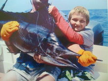 My sons first solo sailfish.