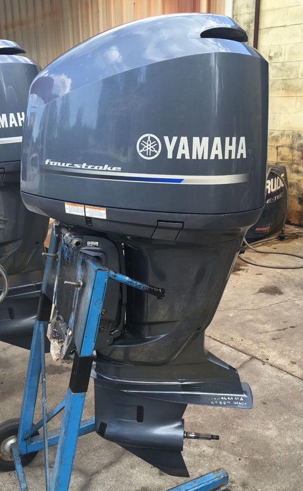 Twin 2015 yamaha f250 4 strokes 25 shaft 14 995 for Yamaha repower cost