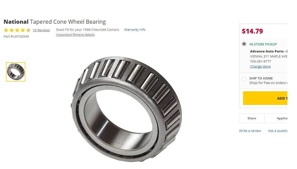 Wheel bearings  - Third Generation F-Body Message Boards
