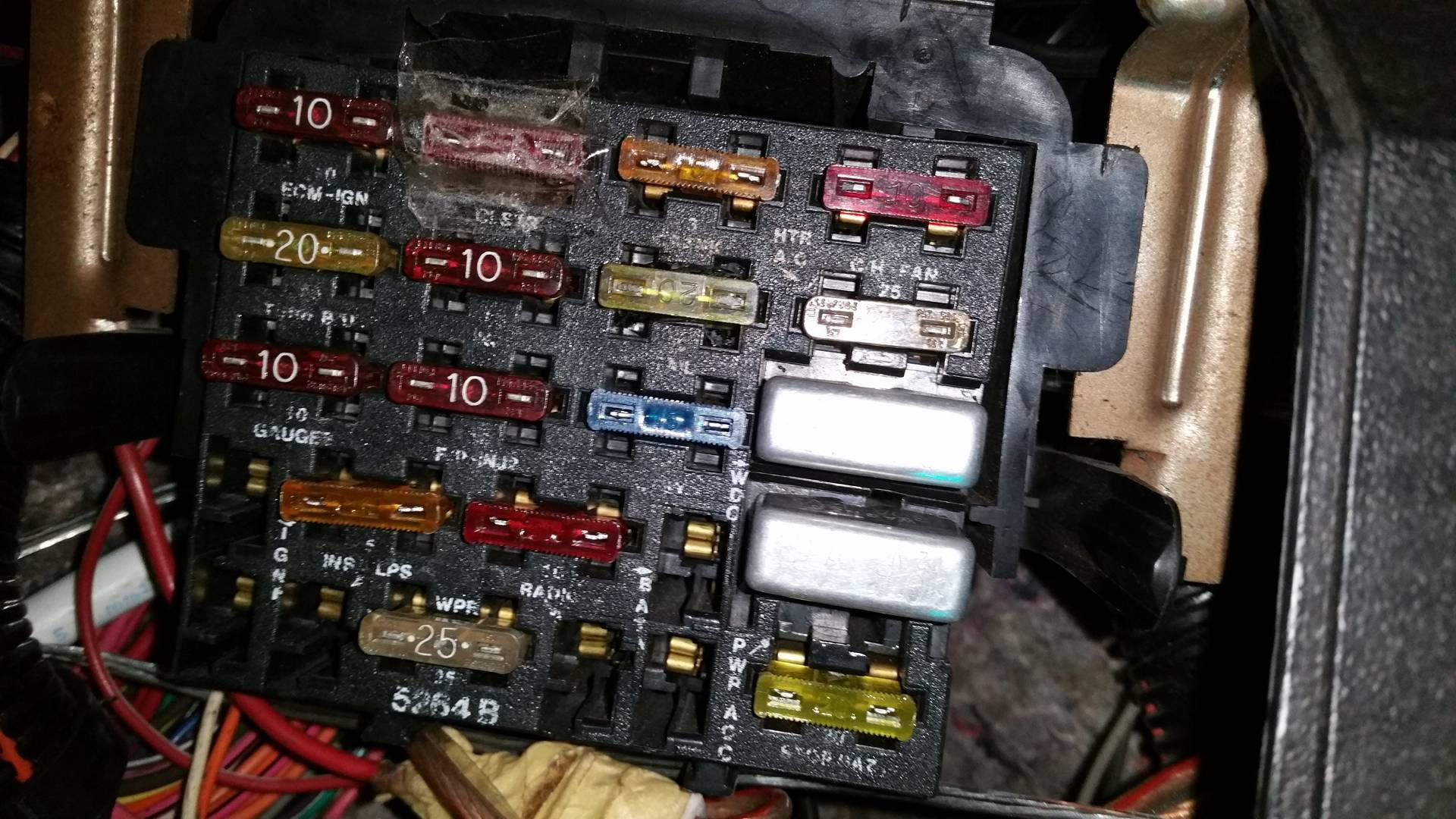 pontiac firebird 1989 fusebox diagram - third generation f ... 89 silverado fuse box diagram #6