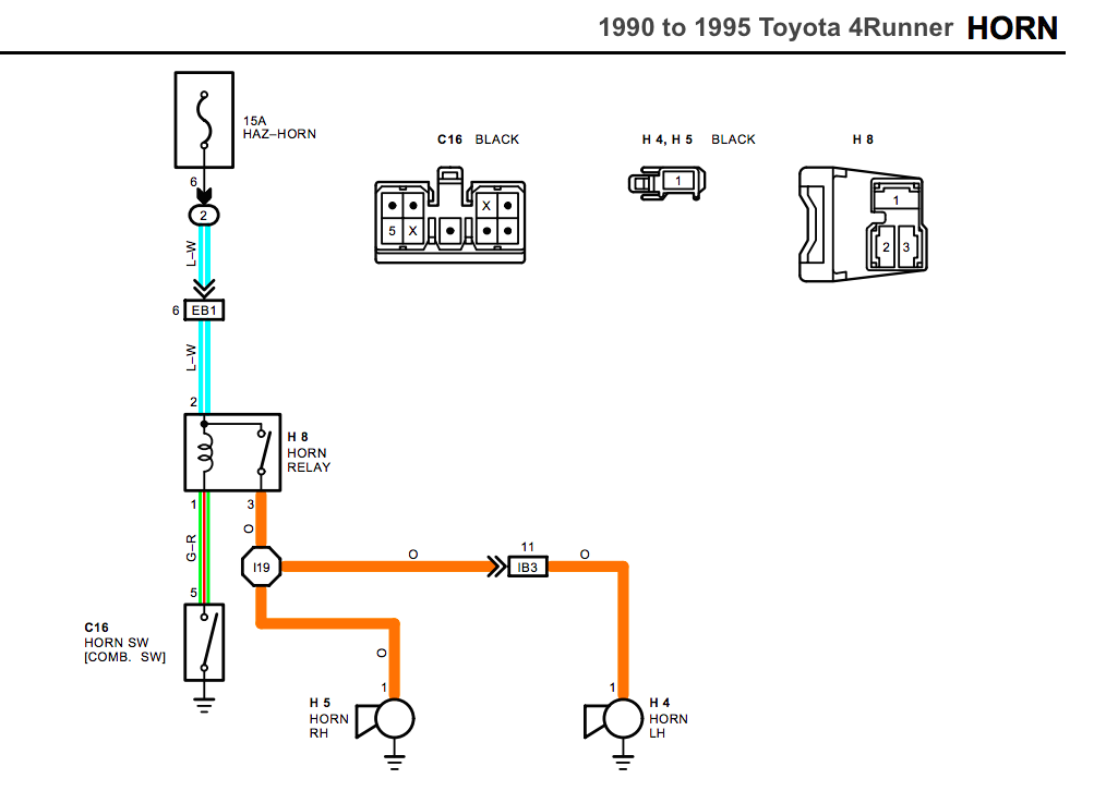 1990 toyota pickup wiring diagram horn relay retrofit for first gen 4runners and earlier trucks  horn relay retrofit for first gen