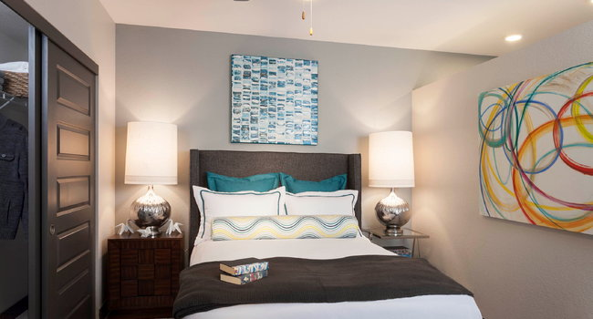 Modern lighting throughout with ceiling fans