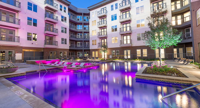 Day or night, enjoy the ambiance on this pool deck