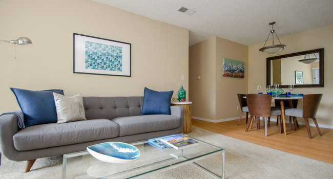 Living Room with Dining Space