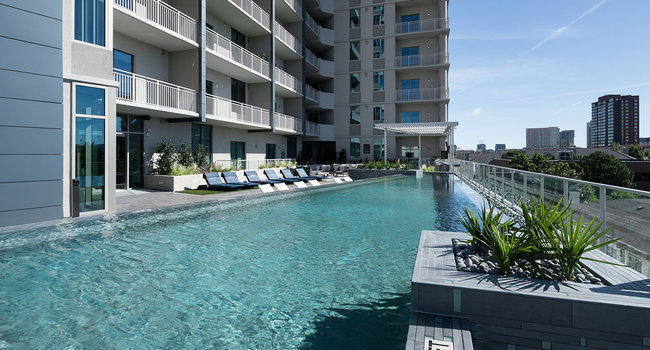 Heated Roof Top Swimming Pool with City View