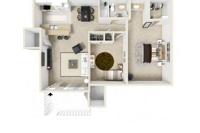Floor Plan Photo Of Hidden Hills Apartments In Vista Ca